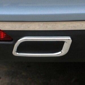 Image 5 - 2 Pcs DIY רכב סטיילינג ABS chrome אחורי פגוש קישוט צינור פליטת גרון זנב מדבקות לסיטרואן C4 C5 האליזה אבזרים