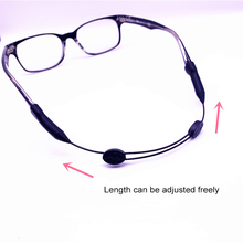 Portable Adjustable Sports Glasses Lanyard Eyewear Anti-Slip Glasses Chain Silic
