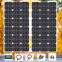 BOGUANG Flexible solar panel 18V 80W with 2.5 mm² 0.5M solar cable size 100cm*50cm for battery 12v LED rvs home Photovoltaic