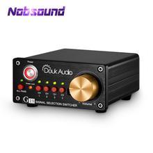 Nobsound Hi end 4 way Audio RCA Switcher กล่องเครื่องขยายเสียงลำโพงตัวเลือก Splitter