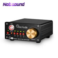 Nobsound Hi end 4 way Stereo RCA Audio Manual Switcher Box Amplifier Speaker Selector Splitter