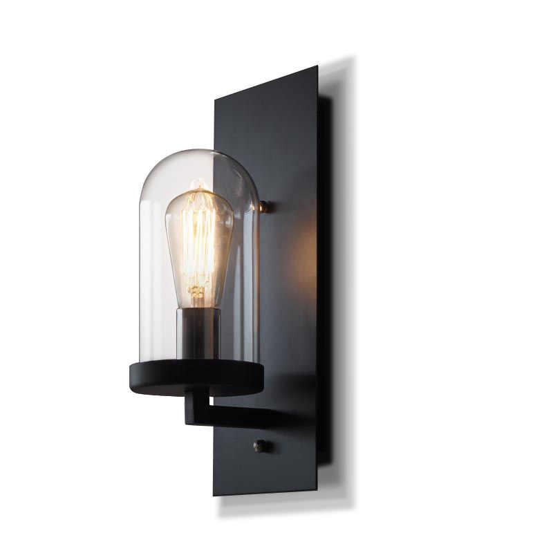 Kluzi البلاد الأمريكي الصناعية الرجعية نمط الحديد المطاوع الزجاج وحدة إضاءة led جداريّة مصباح الإضاءة ل المدخل مطعم لوفت مصباح بار