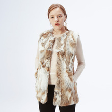 ETHEL ANDERSON, женский жилет из натурального кроличьего меха, пальто из натурального меха для женщин, меховой жилет, длинное пальто, верхняя одежда, жилет