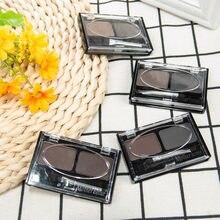 Набор Палитра кистей для макияжа глаз 2 цвета водостойкие тени