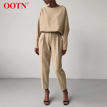 OOTN Casual High Waist Khaki Pants Women Summer Spring Brown Ladies Office Trousers Zipper Pocket Solid Female Pencil Pants 2020 cheap Polyester Full Length CK9131 Office Lady Flat REGULAR Fake Zippers Vintage Woven Zipper Fly Spring Summer 2020 Fashion Khaki Brown