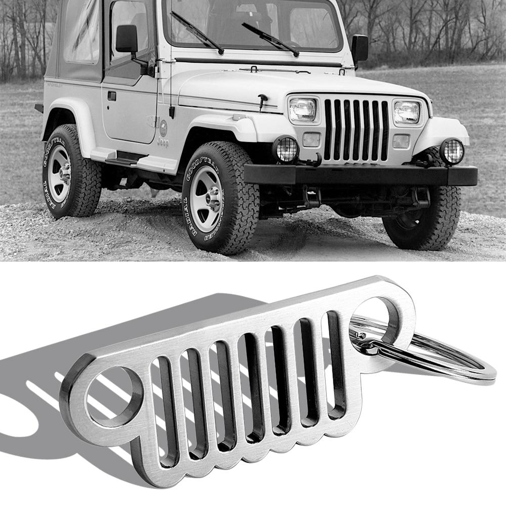 enamel graphite Chrome metal tag Wrangler key chain for car accessories Replica.
