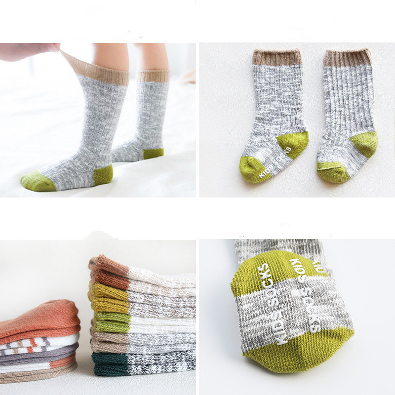 Winter Baby Socks Knitted Thick Warm Socks for Girls Anti Slip Knee Baby Boy Socks Casual Winter Leg Warmers Suitable for 0-8T 3