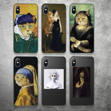 Lovebay capa abstrata para celular, para iphone x xr xs max 11 pro max 8 7 6 6s plus capa de silicone macio para impressão de animais tpu