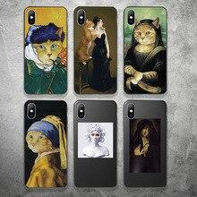 Lovebay אמנות מופשט טלפון מקרה עבור iPhone X XR XS מקסימום 11 פרו מקסימום 8 7 6 6s בתוספת רך TPU סיליקון בעלי החיים הדפסת כיסוי מקרי Coque