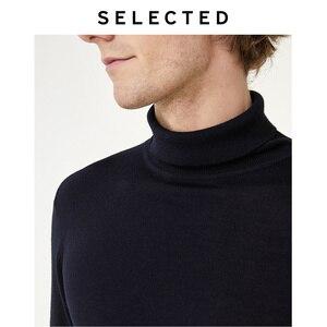 Image 5 - Select nouveau 100% laine à col haut tricoté pulls hommes col roulé hiver pull S