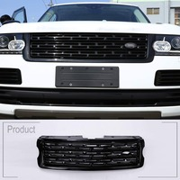 ABS Black Shine Main Body Kit Car Front Grille Trim For Land Rover Range Rover Vogue 2013 2014 2015 2016 2017 Car Accessories