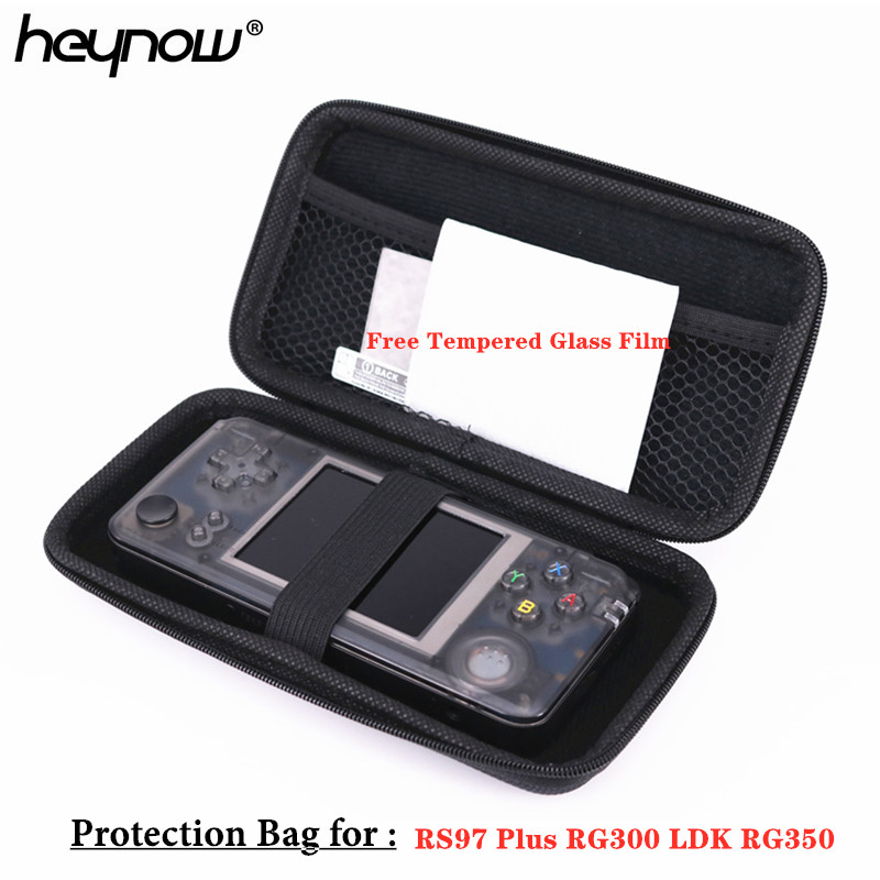 Image 3 - HEYNOW Protection Bag for Retro Game Console RG350 RG300 RS97 Plus KIII LDK Landscape Version PocketGo Game Player , Free Tempered Glass For RS97 Plus PocketGo LDK Handheld Retro Game Console-in Bags from Consumer Electronics