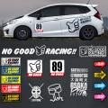 Стайлинг JDM No Good Racing Decal Loop Kanjo Window Body Door Sticker Vinyl Graphics for Civic EK Gtr R32 R34 GK5 Odyssey