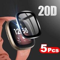 20D borde curvado cobertura completa suave película protectora cubierta para Fitbit sentido viceversa 3 2 Pantalla de reloj inteligente (no de vidrio)