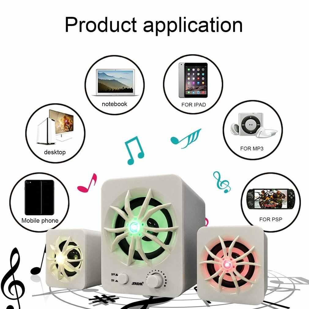 SADA Surround Sound Speaker Soundbar Subwoofer Sound Bar DIY Protable Mini Kombinasi Speaker untuk PC Speaker Caixa Som De