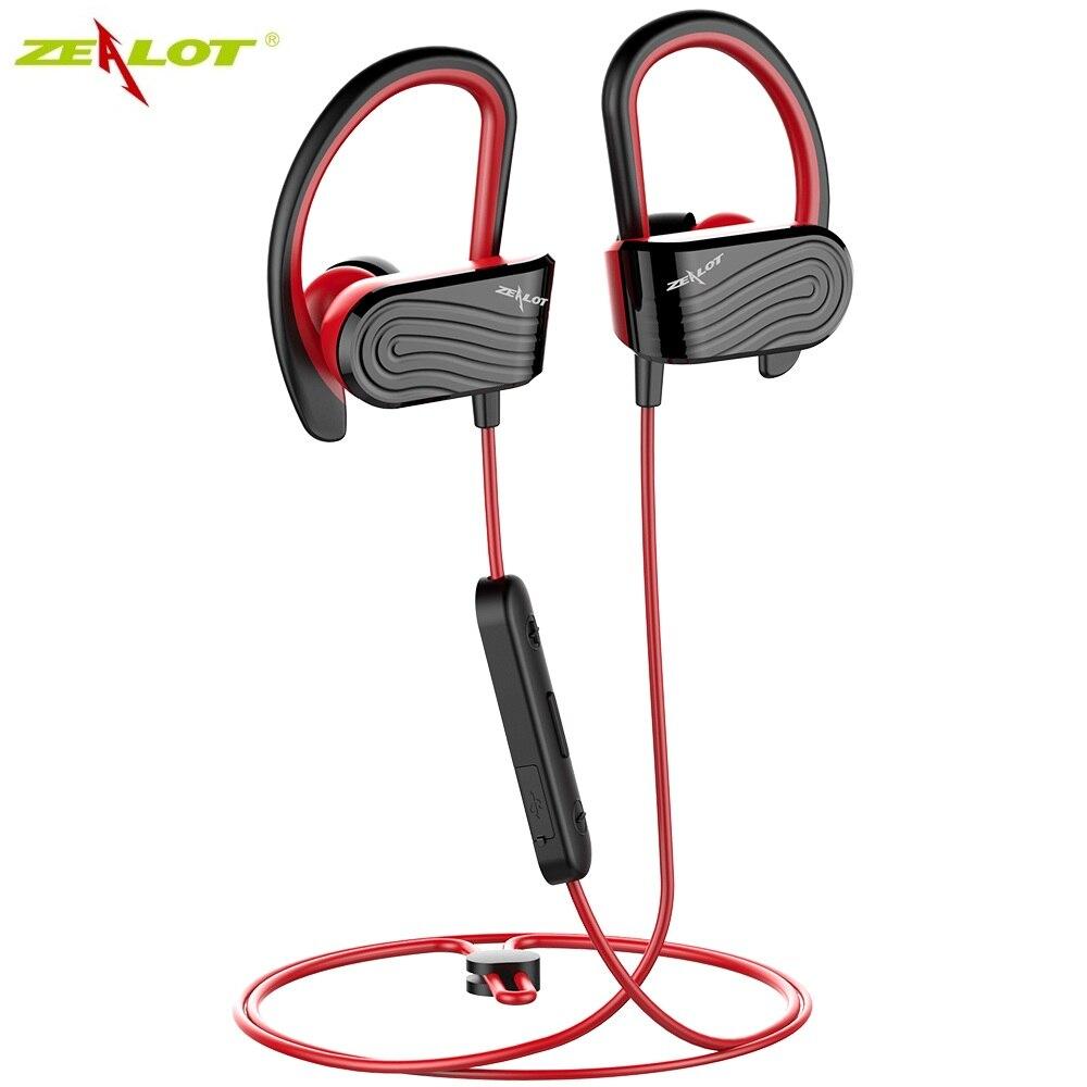 ZEALOT H12 беспроводные наушники Bluetooth спортивные наушники стерео гарнитура IPX5 водонепроницаемые наушники с микрофоном