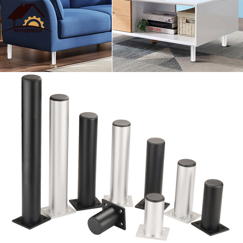 Myhomera 4Pcs/Set Furniture Feet Legs Adjustable Cabinet Sofa Leg 60/80/120/180/250mm Aluminum Cupboard Coffee Table Protec Foot