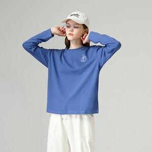 Image 3 - Toyouth casual Girocollo maglia A Manica Lunga T Shirt Allentato Pesce Stampato Autunno Nero Magliette e camicette