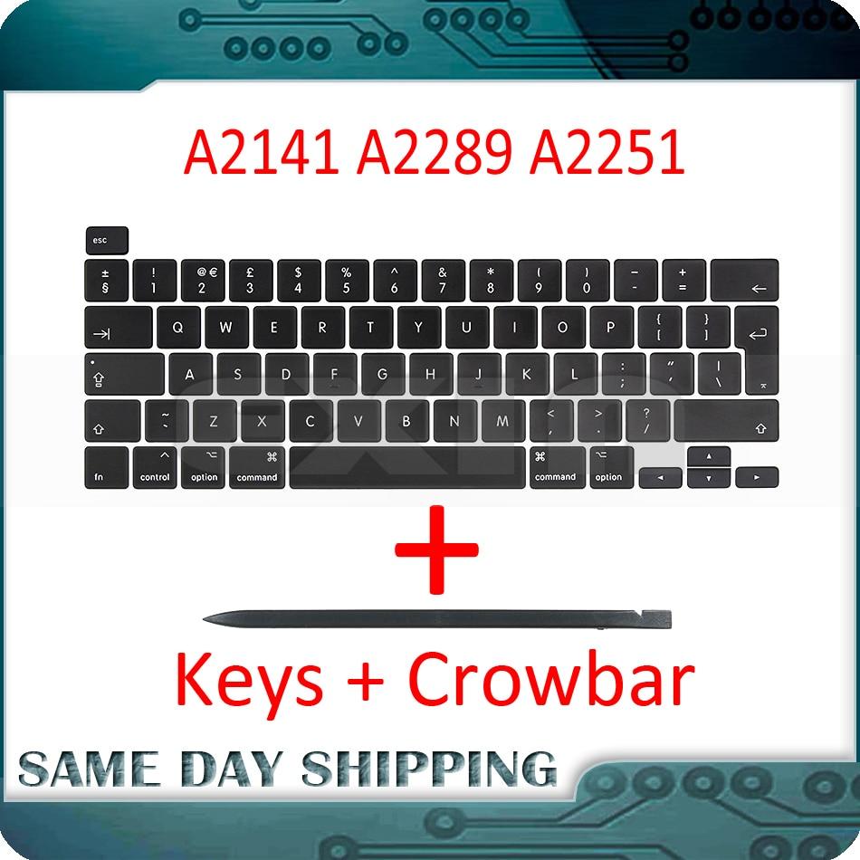 Laptop A2141 A2289 A2251 Key Keycaps Keys Cap Keyboards Scissor Repair for Apple Macbook