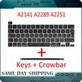 Laptop A2141 A2289 A2251 Schlüssel Tastenkappen Tasten Kappe Tastaturen Scissor Reparatur für Apple Macbook Pro Retina 13