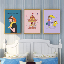 Cartoon Full Square/Round Drill 5D DIY Diamond Painting Maternal Love/Paternal Love 3D Embroidery Cross Stitch Kids Room Decor