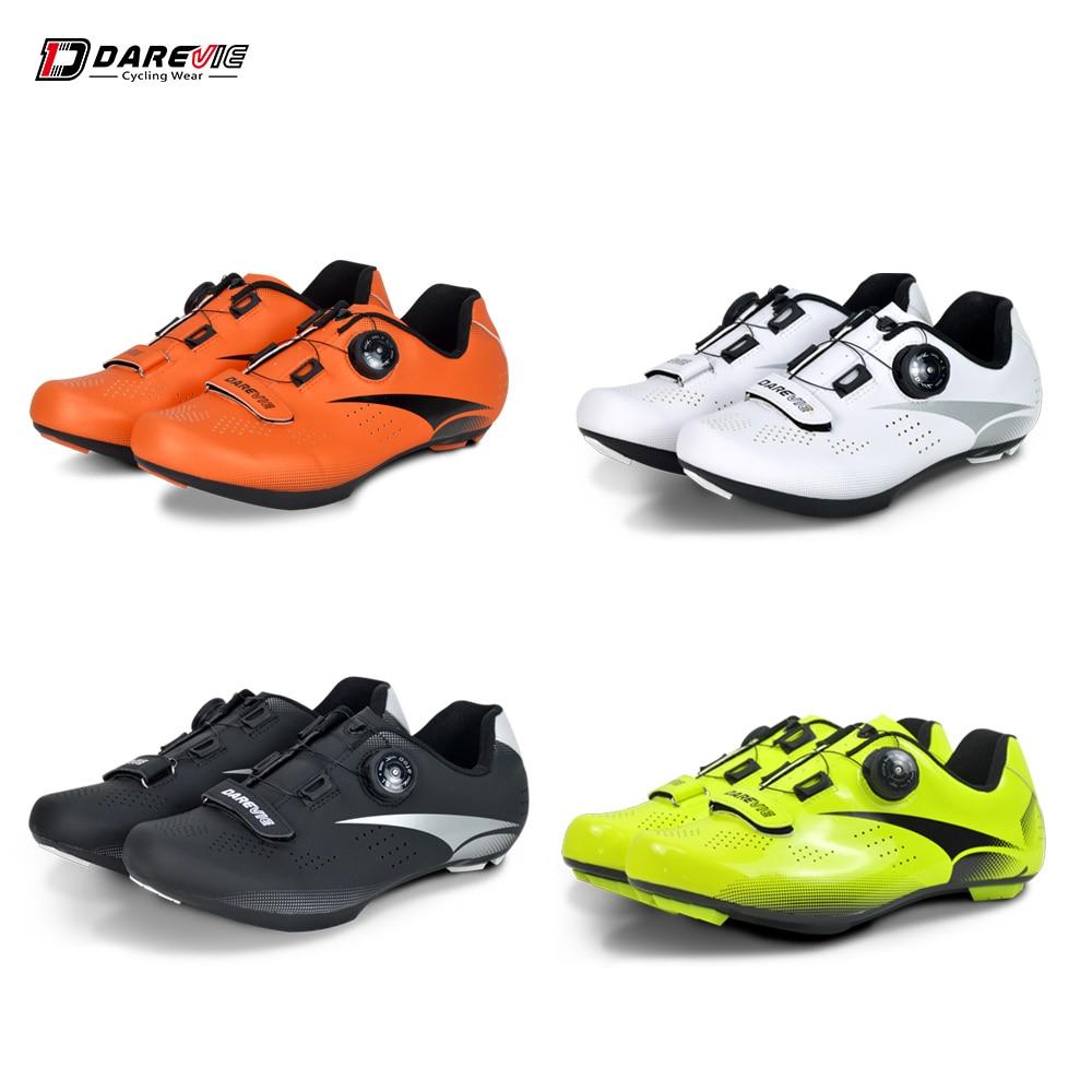 Spor ve Eğlence'ten Bisiklet Ayakkabıları'de Darevie yol bisiklet ayakkabıları ışık Pro bisiklet ayakkabı nefes Anti kayma bisiklet ayakkabıları yarış yüksek kaliteli bisiklet ayakkabı görünüm SPD SL title=