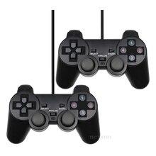 Przewodowy USB PC Gamepad dla WinXP/Win7/Win8/Win10 dla komputer stancjonarny Laptop czarny kontroler do gier