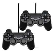 Проводной USB геймпад для ПК WinXP/Win7/Win8/Win10, черный игровой контроллер для ПК, ноутбука