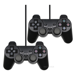 Image 1 - Wired USB PC Gamepad For WinXP/Win7/Win8/Win10 For PC Computer Laptop Black Game Controller