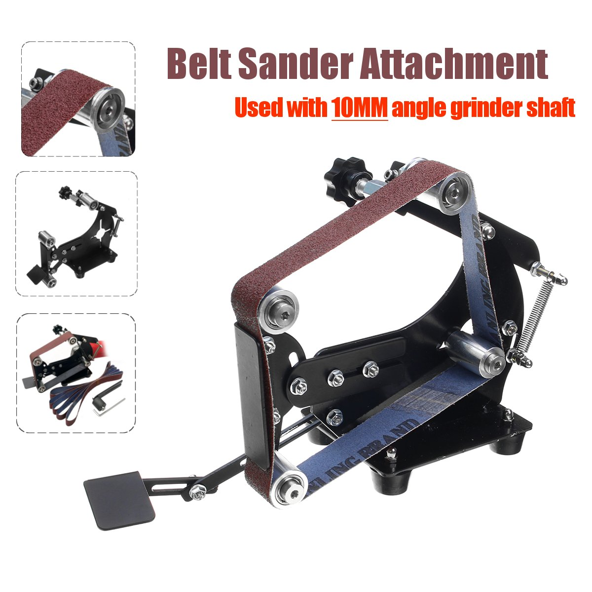 Angle Grinder Into Belt Sander Sanding Supporting Grinding Machine Shaft 10MM Polishing Woodworking Tools
