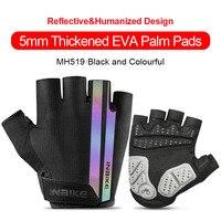 MH519-Colorful-INBIKE Summer Men Women Half Finger Shockproof Cycling Gloves