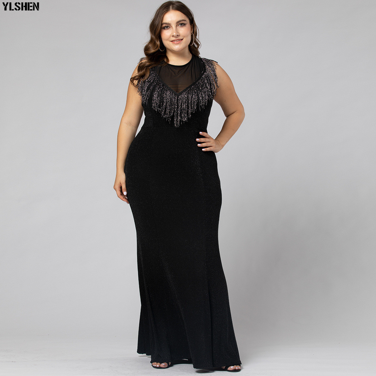 Black Evening Party Dress African Dresses For Women Plus Size Long Maxi Africa Dress African Clothes Robe Africaine Femme 2019