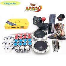 La caja de Pandora 9D arcade diy joysticks + kit de arcade kit 12V caja de energía + altavoz + multi-moneda aceptador de monedas + botón LED arcade