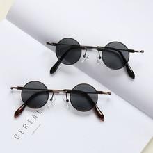 Vintage Small Metal Frame Round Sunglasses Women Luxury Desi
