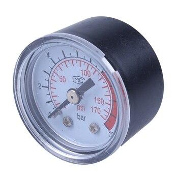 цена на Big deal  0-12BAR 0-170PSI 10mm Thread Gas Air Pump Pressure Gauge Compressor Manometer