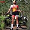 Kafitsummer nova camisa de ciclismo de manga curta terno de uma peça terno profissional feminino triathlon bicicleta de montanha macaquinho 7