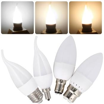 цена на 3W LED Candle Light Bulbs Dimmable E12 E27 E14 2835 SMD 110V 220V White Lamp Replace 25W Halogen Lamps For Home Office Decor