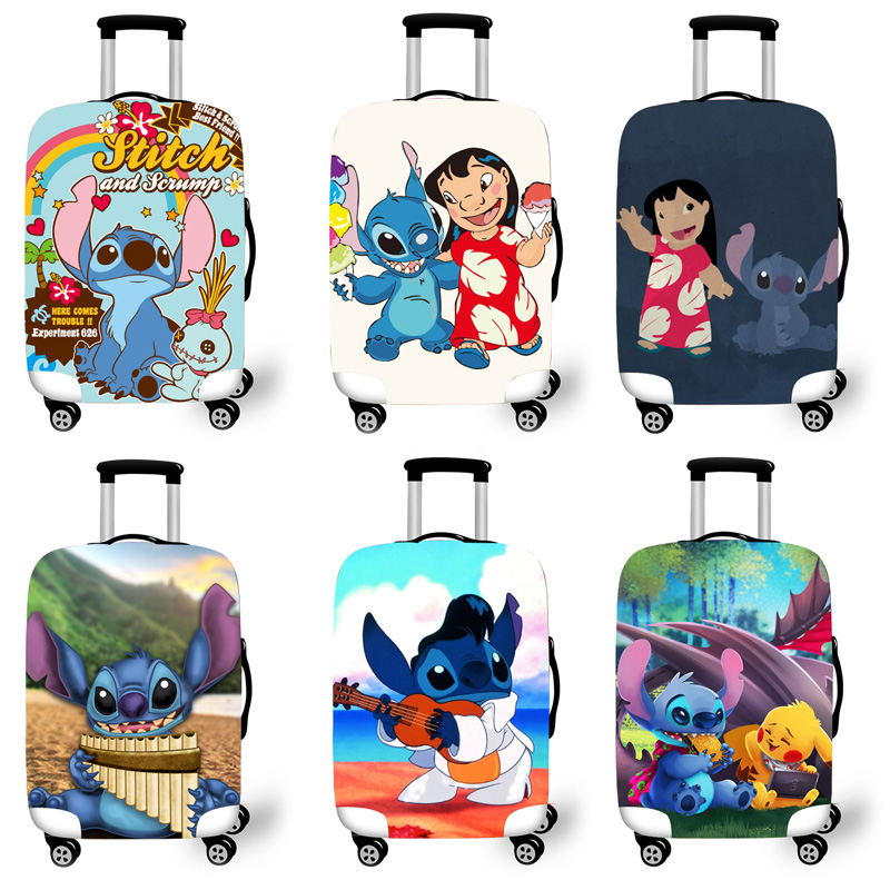Elastic Luggage Protective Cover Case For Suitcase Protective Cover Trolley Cases Covers 3D Travel Accessories Lilo Pattern T123