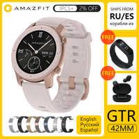 [Wersja globalna] AMAZFIT GTR Smartwatch 42mm 5ATM wodoodporny GPS GLONASS Bluetooth inteligentny zegarek do monitorowania tętna