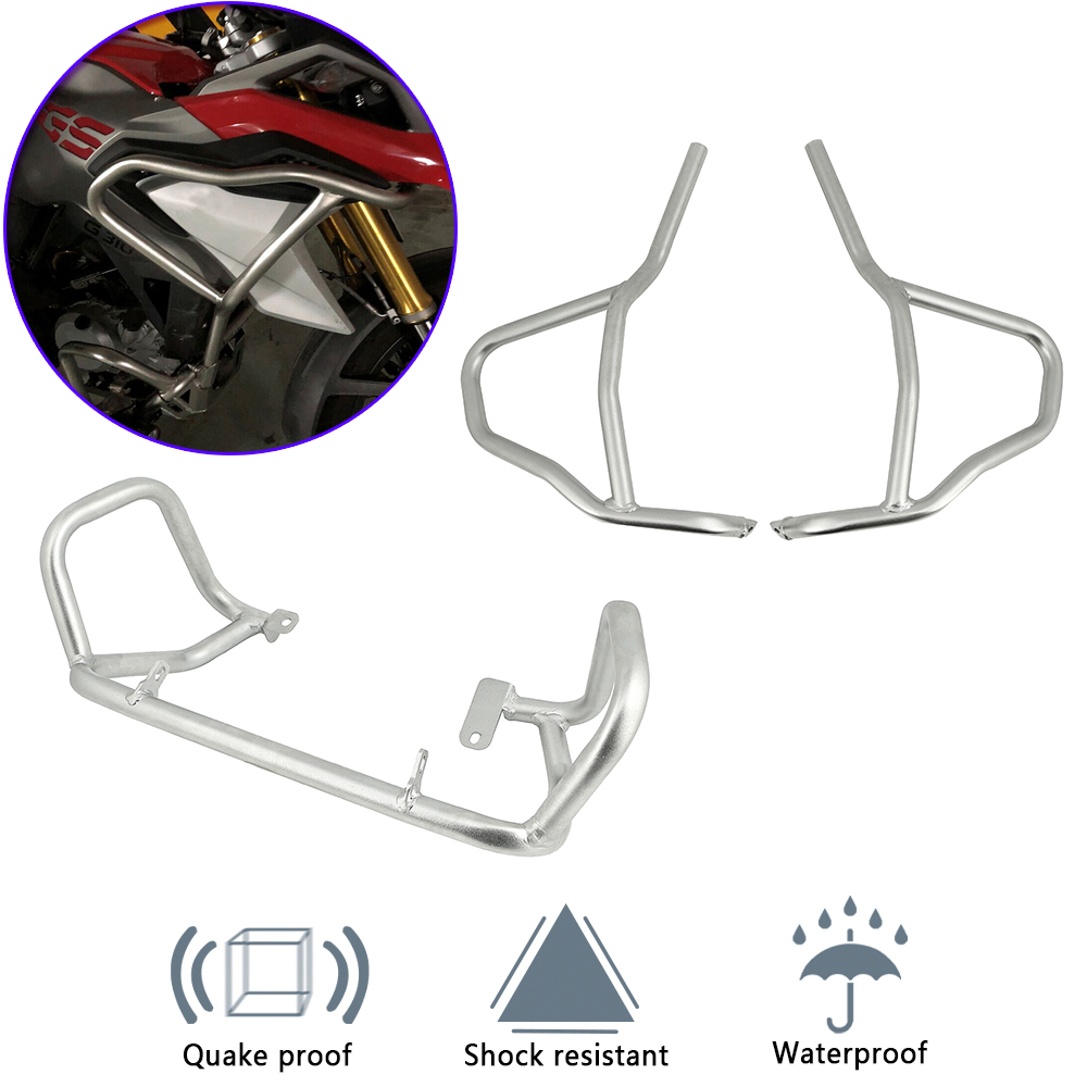 Motorcycle Engine Guard Tank protector Upper Crash Bars Cover Bumpers For BMW G310GS <font><b>G</b></font> 310GS G310R G310 R <font><b>G</b></font> <font><b>310R</b></font> 2017 2018-2020 image