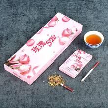 Cigarettes de thé Rose chinois mince fumée mince cesser de fumer des poumons clairs sans fumée et Nicotine