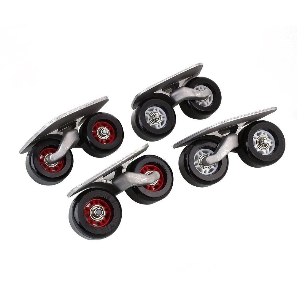 Portable Pair Drift Board Anti Skid Skateboard Free Line Wheels Sports