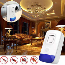 Indoor Mosquito Insect Repeller Rat Mouse Cockroach Pest Repellent Killer Electronic Ultrasonic Pest Control EU/US/UK Plug electronic ultrasonic anti mosquito insect repeller rat mouse cockroach pest reject repellent us plug