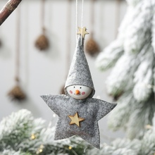 Christmas Star Shape Plush Doll Pendant Decorative Xmas Tree Hanging Ornaments Seasonal Home Party Decorations Merry ChristmasGM