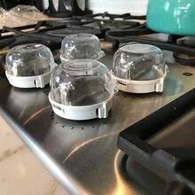 Универсальная кухонная плита детская изоляционная ручка газа(6 шт. в упаковке), крышки для кухонной плиты детская безопасная ручка газовой плиты защитные замки