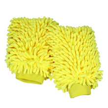 YUNPICAR Car Wash Mitt 2 Pack   Extra Large Size Clean Tools Kits  Premium Chenille Microfiber Winter Waterproof Cleaning Mitts