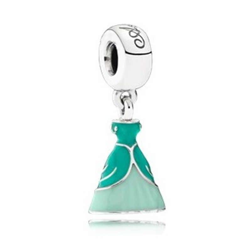 כסף 925 חדש שמלת מיקי Unicorn קסמי חרוזים תליון Fit פנדורה צמידי & שרשרת לנשים DIY אוהבי Jeweley