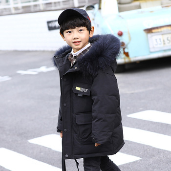 Children's down jacket 2019 winter new boys' middle and big children's thickened Korean children's coat a fashion look