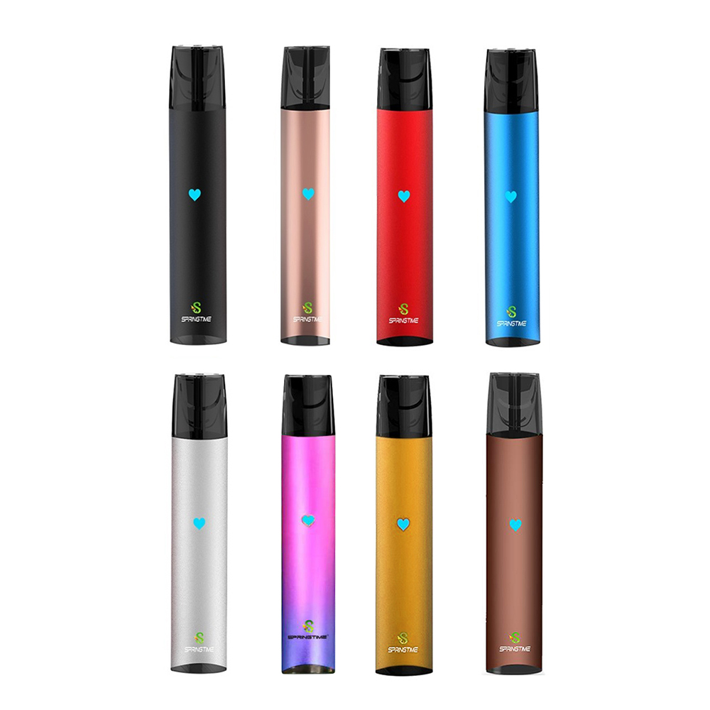 Springtime SP2 Pod Vape Kit 350mAh Battery With Pods 2ml Vape  1.2ohm Cartridge Flat Buttonless Compatible Universal Relx Pods