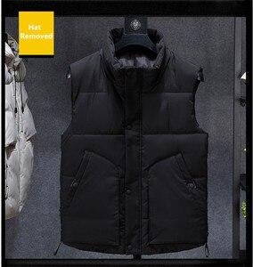 Image 5 - Inverno sem mangas jaqueta 2019 quente preto camuflagem chapéu com capuz casaco casual com capuz plus size 6xl 7xl 8xl estudantes magros blusão